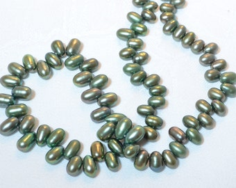 Freshwater Strand Olive Top-Drilled Pearls