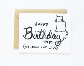 Birthday Card - Crazy Cat Lady