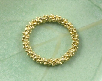 2 matte gold RING textured jewelry pendant . Large and Double sided . 24mm x 22m (IB16)