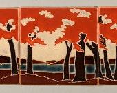 """Woodland Set - 3 Tiles, 8x8"""" each"""