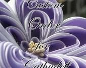 Custom Kanzashi Listing for Cathydeff