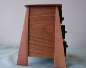 Distinctive Mayan Step 3 Drawer Box with Genuine Mahogany from Africa.
