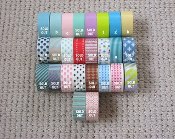 mt Washi Masking Tape - Mini Rolls - Limited Edition - Choose Any 5