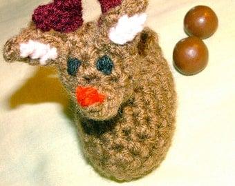 Reindeer Candy Pooper, Crochet