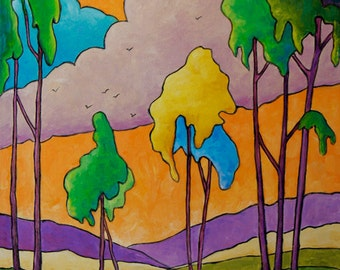 Dream Land Original Abstract  Oil Painting created by Prankearts