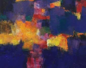 September 2014 - 8 - Original Abstract Oil Painting - 72.7 cm x 72.7 cm (app. 28.6 inch x 28.6 inch)