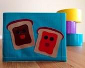 PB&J Duct Tape Wallet - Teal Bifold