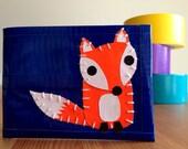 Fox Duct Tape Wallet - Blue Bifold