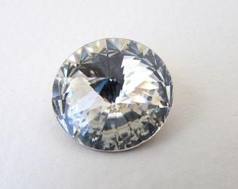 Vintage Swarovski Crystal Rhinestone Rivoli Round Jewel 18mm swa0562 (1)