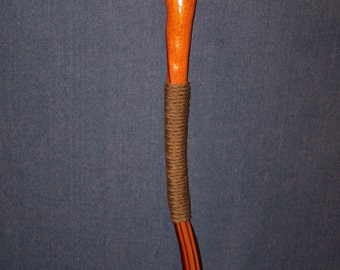 Serpentine Walking Stick of Exotic Woods