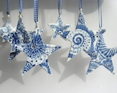 North Star -  Hand painted   Delftware  porcelain ornaments