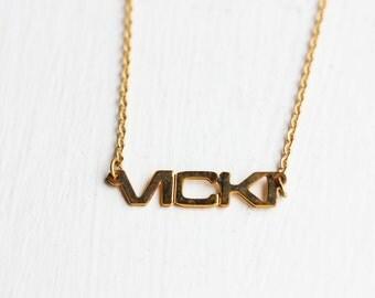 Name Necklace - Vicki