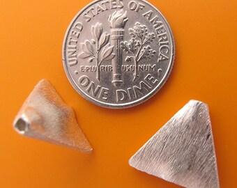 4 pcs 12mm Sterling Silver triangle shape beads (BSS156)