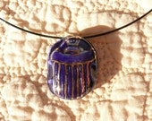 Blue Scarab Pendent