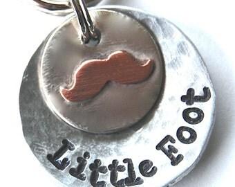 Multi Metal Mustache Pet ID tag - NEW DESIGN -
