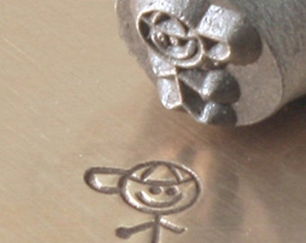 SON Stick Figure Family - 6mm Metal Design Punch for Personalized Stamped Jewelry Blanks