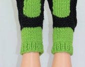 Instant Digital File pdf download knitting pattern - Adult Superfast Sock Slippers