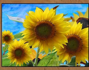 Sunflower Garden indoor-outdoor floor mat available in 3 sizes