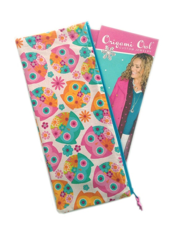 Catalog Pouch Paisley Owl Fits Origami Owl Catalogs - photo#34