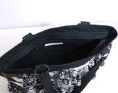 Zipper Upgrade Photo Ruffle Patchwork Bag