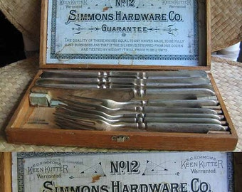 Keen Kutter Simmons Hardware Co Silver Wear Cutlery