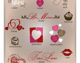 Valentine's Day SVG Files, Candy Heart Svg, Romantic SVG, Love Cuttable SVG Files, Valentine Cutting Files for Cricut, Ai Svg Gsd Eps