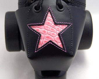 "Leather Toe Guards with Pink ""Gator"" Star"