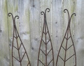Tall Metal Garden Art Leaves Sold Individually