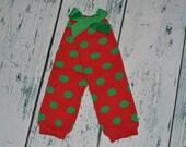 Christmas polka dot Leg Warmers INFANT  NO BOW Legwarmers