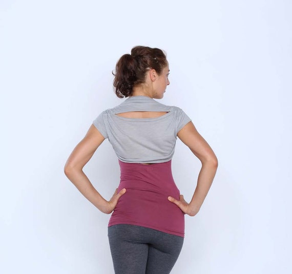 Cropped tee bolero shrug - Yoga clothing - dance wear - fitness - gym