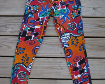 gift it XS Not Worn Hip Hop Rap Hot Tropics Stir Up Leggings, 1980s 80s party girl