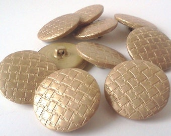 Metal Gold Toned Buttons - 1 inch (4) & 1 1/8 inch (1)