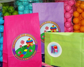 Candy Land Goody Bags w/Sticker Seals. Candy Land Party. Sweet Treats Birthday. Candy Favor Bags. Girls Birthday Party. Set of 10. Pick Size