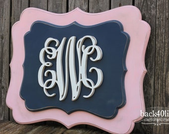 Double Stacked Vines 3D Wedding Guestbook (W-046b)