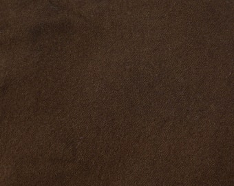 """Hand Dyed - Chocolate Brown  - 100% Wool - 15"""" x 12"""" Fat Eighth - Wool Fabric"""