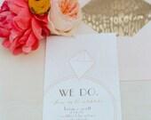 Diamond Rings - Printable Wedding Invitation