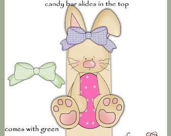 Girl Bunny Candy Bar Slider for Easter - Digital Printable - Immediate Download