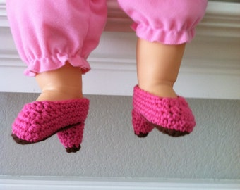 Crochet High Heel Shoe Baby Booties Doll Shoes Size 0-6 Mos Made to Order Handmade Crocheted New