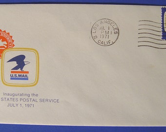 Inaugurating The US Postal Service 1971 First Day of Issue Cover Stamped Envelop