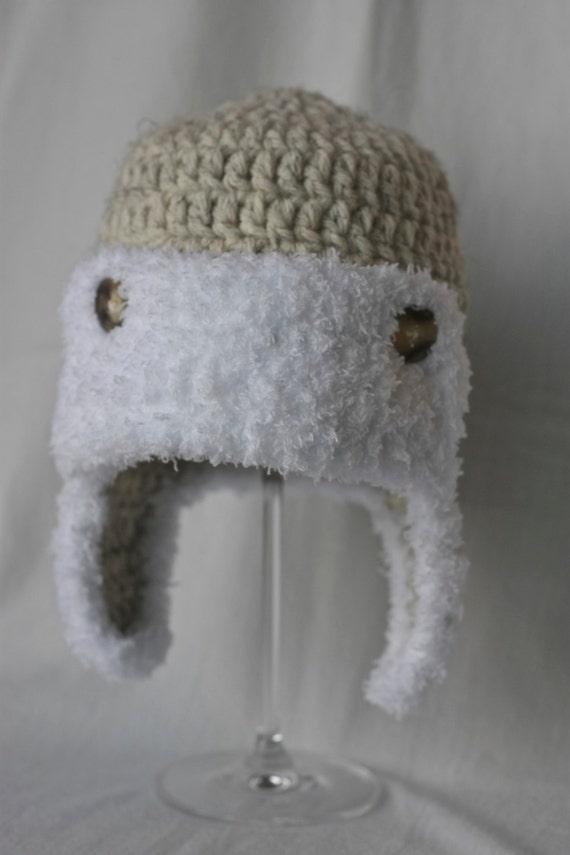Baby Bomber Aviator Earflap Crochet Hat