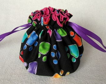Drawstring Jewelry Tote - Medium Size - Pouch for Jewelry - Jewelry Bag - LITTLE FOOT