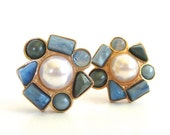 Vintage 80's Avon // South of France Clip on Earrings