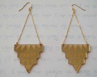 Empire State of Mind Earrings in Gold Mirror