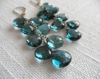 London blue topaz earrings - silver earrings - V I D A 230