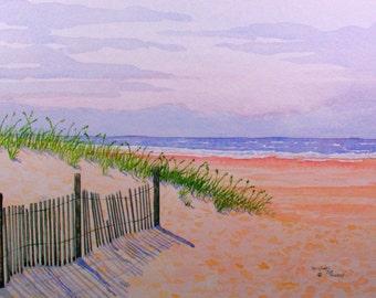 Edisto Island Beach Print from the Original Watercolor by Michael Joe Moore