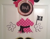 Pink Dot Minnie Mouse Pirate Body Part Stateroom Door Magnets for Disney Cruise