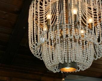 Glamorous Vintage Beaded chandelier