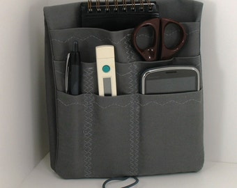 Lab coat Pocket Organizer - Nurse or Doctor Scrubs Pocket Case Solid Color - Made to Order- Choose color  from Drop Down Menu at checkout