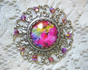 Pretty In Pink Victorian Pendant Free Shipping in USA