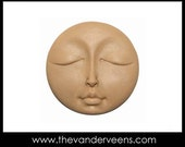 Mold No.115 (Flater Full moon Face with Closed eyes) by Veronica
